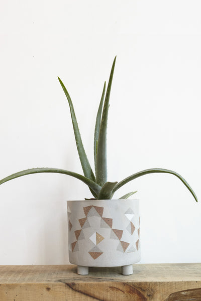 "Heidi Anderson 8"" Ceramic Planter with Feet 