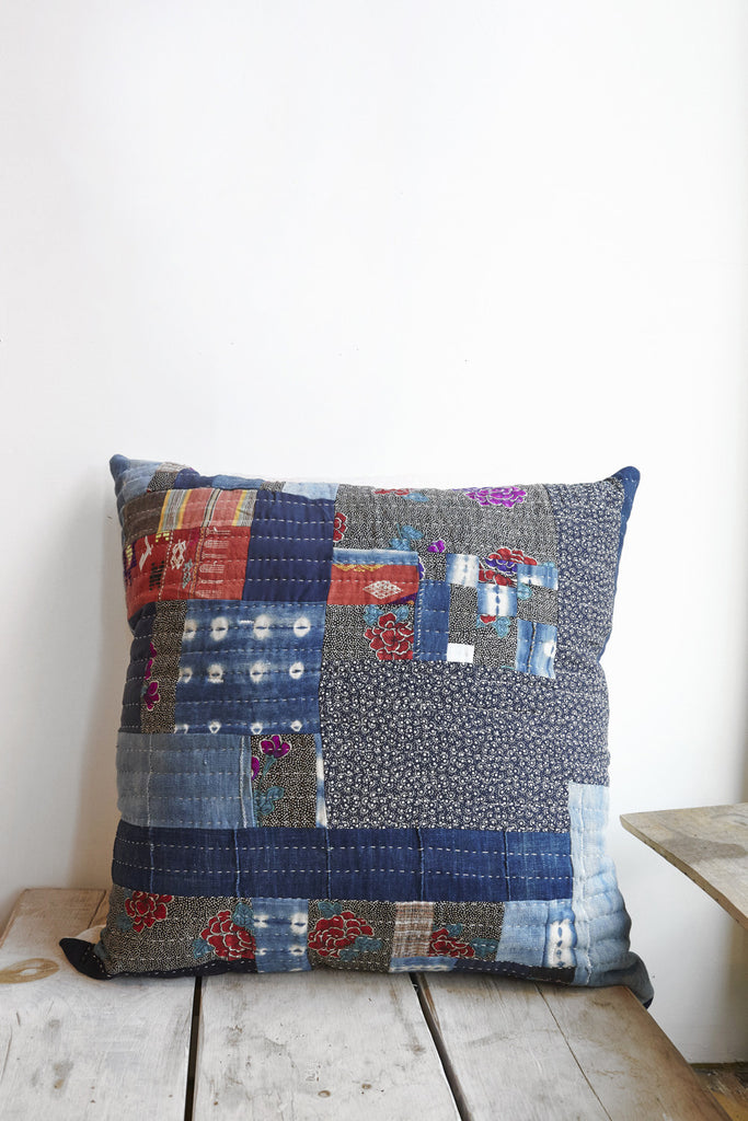 Counterpane Mixed Calico Patchwork Pillow | Oroboro Store | Brooklyn, New York