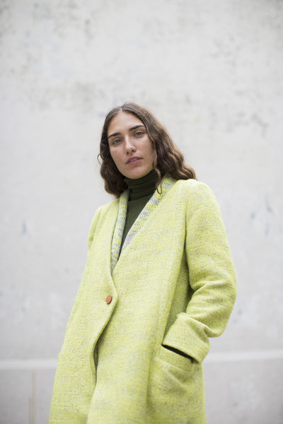Eatable Of Many Orders Tuscan Coat in Yellow | Oroboro Store | Brooklyn, New York