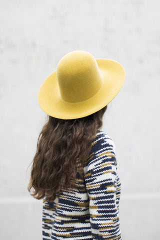 Clyde Wide Brim Dome Hat in Vienna Yellow | Oroboro Store | Brooklyn, New York