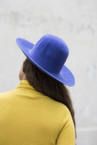 Clyde Wide Brim Dome Hat in True Blue | Oroboro Store | Brooklyn, New York