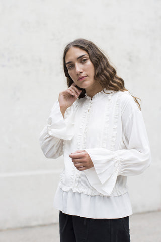 Ulla Johnson Najda Top in Snow | Oroboro Store | Brooklyn, New York