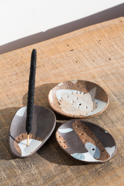 Porcelain Inlay Incense Holders