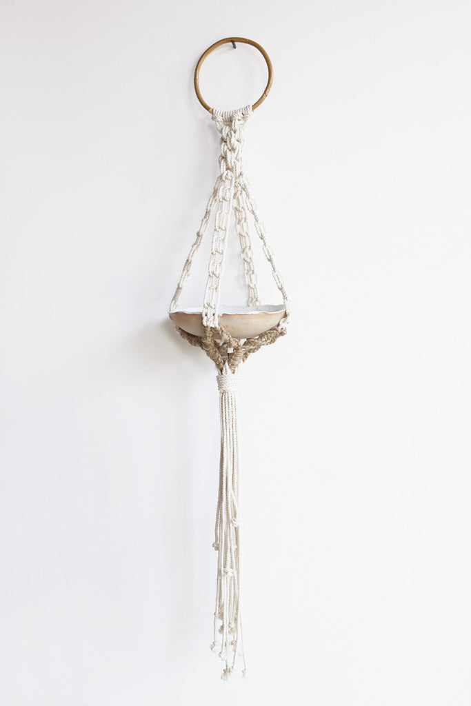 KKIBO Large Macrame Rope Hanging Bowl / Planter in Nautical | Oroboro Store | Brooklyn, NY