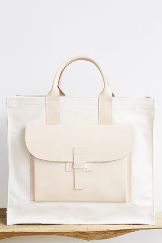 Tote in Canvas & Leather