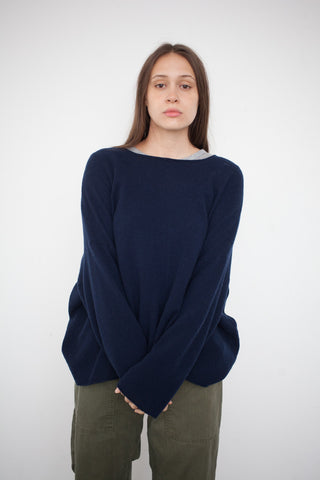 Petria Lenehan Oversized Cashmere Sweater in Navy | Oroboro Store | Brooklyn, New York