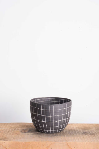 Paula Greif Black Grid Bowl | Oroboro Store | Brooklyn, New York