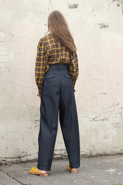 Tomorrowland Belted Pant in Navy | Oroboro Store | New York, NY