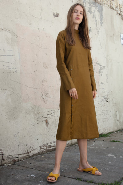 Tomorrowland High Neck Dress in Brown | Oroboro Store | New York, NY