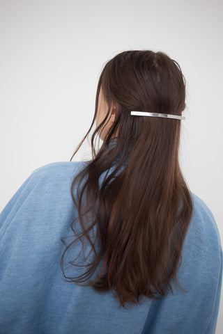 Sylvain Le Hen Fine Hair Barrette 021 in Silver | Oroboro Store | Brooklyn, New York