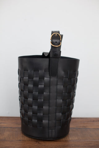 Trademark Woven Bucket Bag in Black | Oroboro Store | Brooklyn, New York