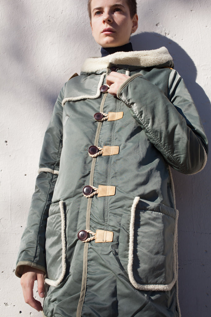 Hudson Military Jacket in Olive