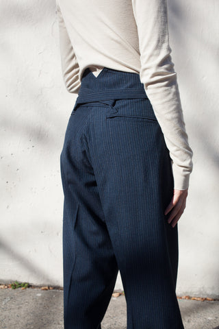 Hakama Pants in Navy Wool