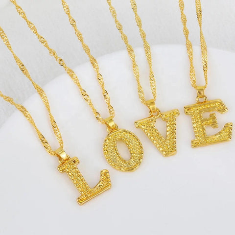 Gold plated Bold Initial necklace