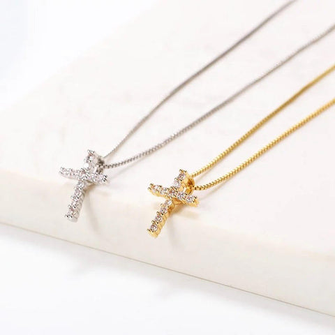 Cross Gold plated necklace