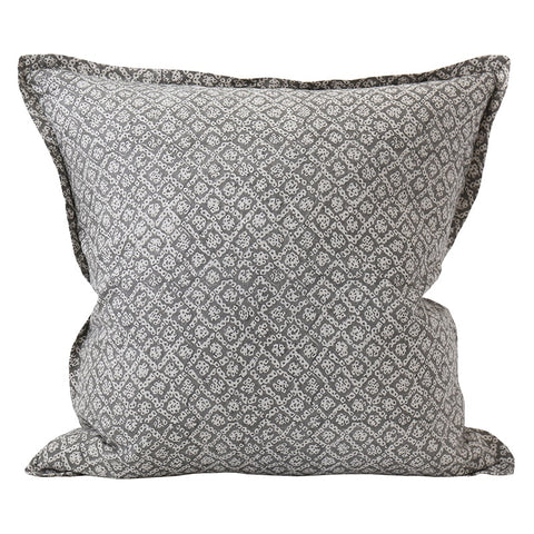 Bandhini Inverse Mud Linen Cushion