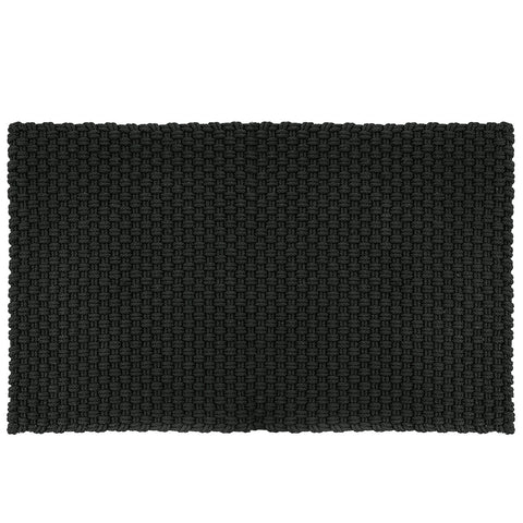 Rope Outdoor Mat  Black