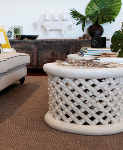Bamileke Table  - White