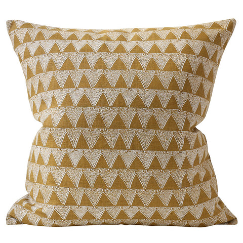 Bantu Saffron Linen Cushion
