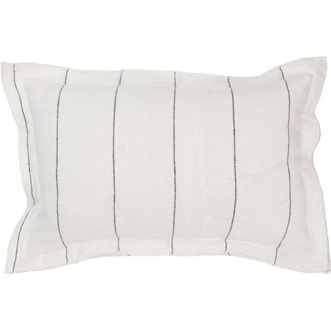 Carter Linen Cushion - Ivory Black