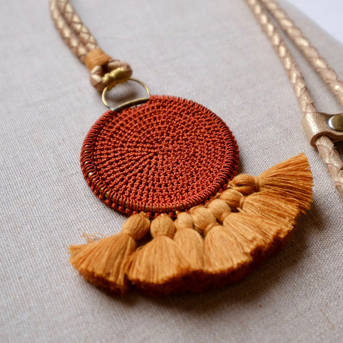 Crochet Disc Tassel N/Lace