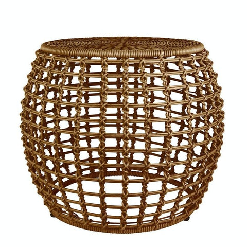 Weave Round Outdoor Side Table - Teak