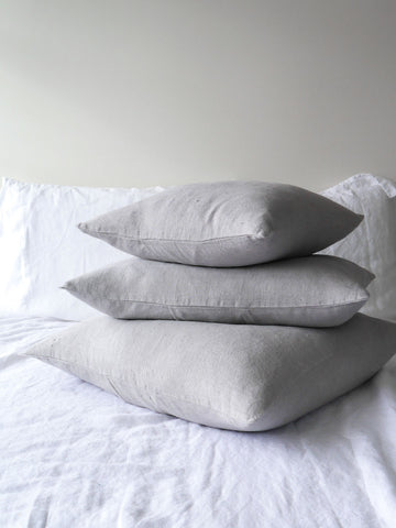 Franc Linen Cushion Souris - light Grey
