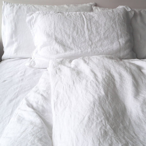 White S/W Linen Fitted Sheet