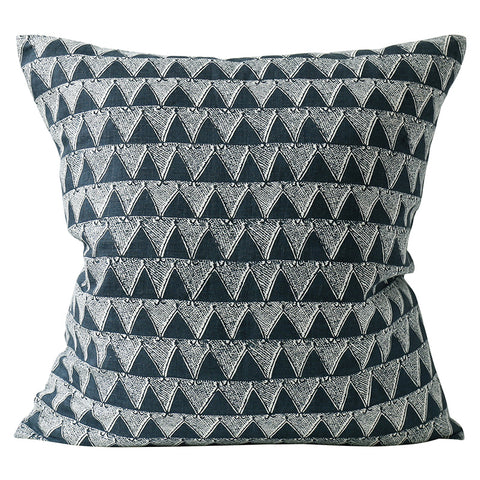 Bantu Indian teal Linen Cushion