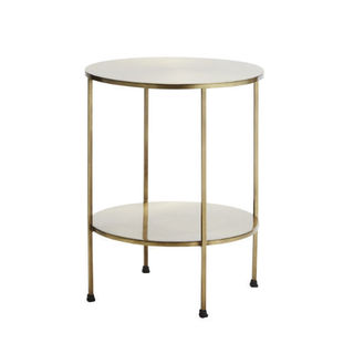 2 Tier Brass Side Table