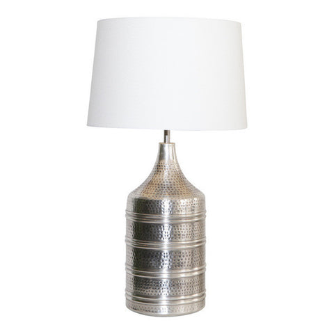 Pewter Barrel Lamp