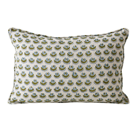 Cadiz Moss Linen Cushion