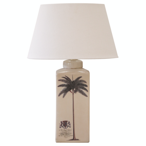 Ceramic Date Palm Lamp