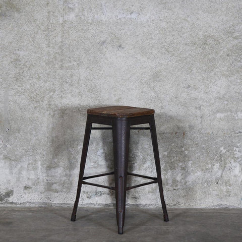 Colonial Stool - Grey /Timber