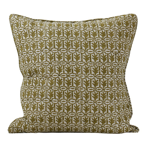 Cassis Olive Linen Cushion