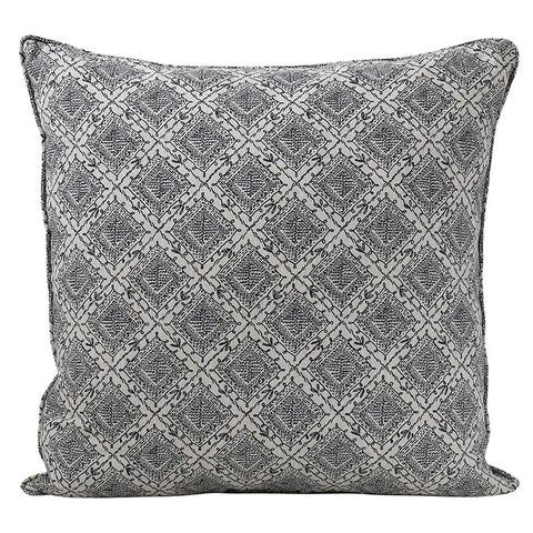 Janpath Indian Teal Linen CUshion