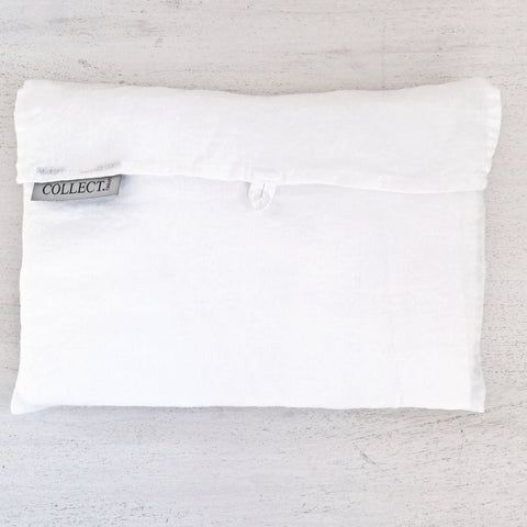 White S/W Linen Pillowcase Pair