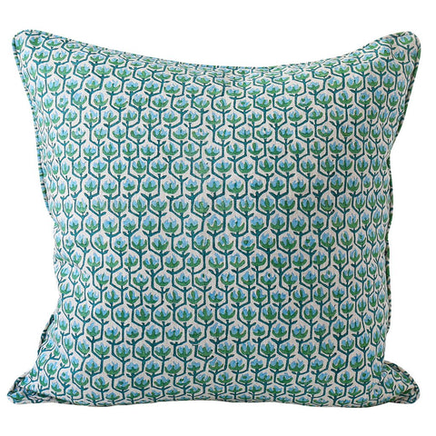 Hermosa Emerald Linen Cushion