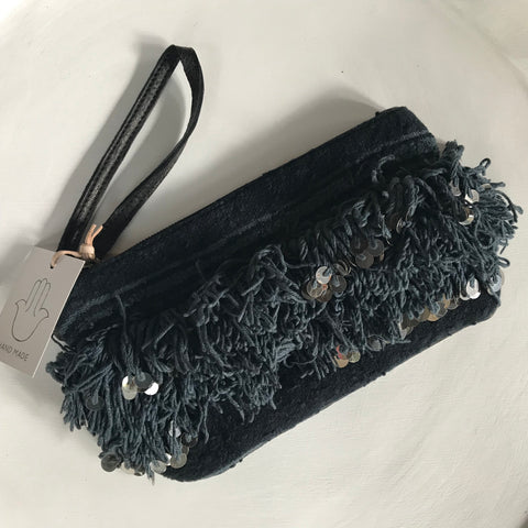 Marrakesh Clutch - Black/grey