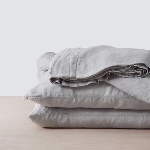 Pure Linen - Cloud - Pillowcase Pair