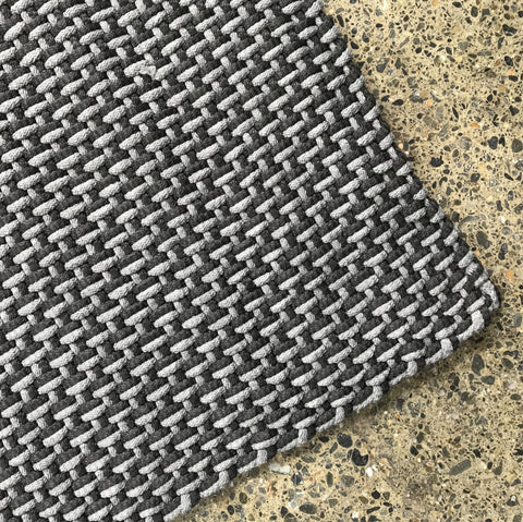 Rope Outdoor Mat - Stone/Black