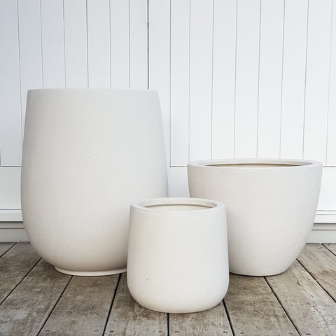 Bianca Lightweight Pots - Palm