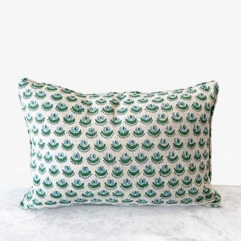 Cadiz Emerald Linen Cushion