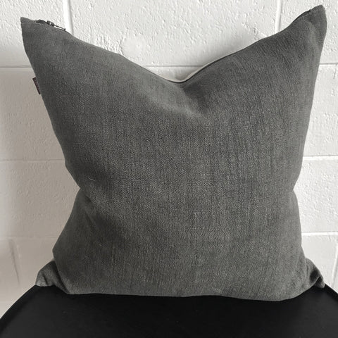 Nomad Linen Cushion - Dark Warm Grey