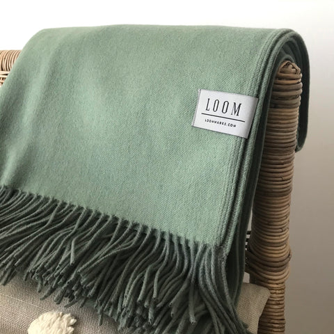 Loom - Merino Cashmere Throw - Sage