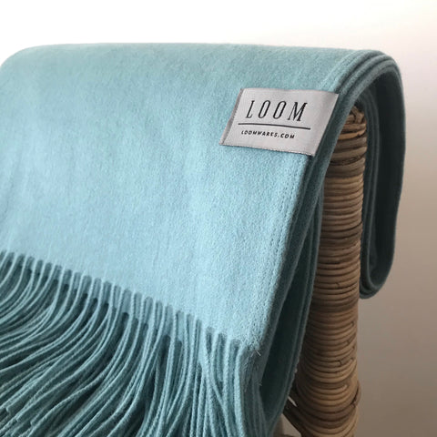 Loom - Merino Cashmere Throw - Seafoam