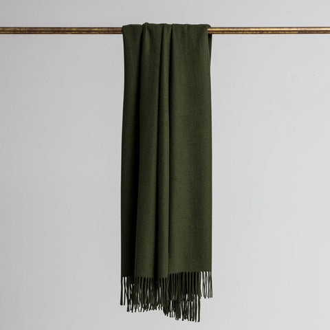 Loom - Merino/Cashmere Throw - Forest