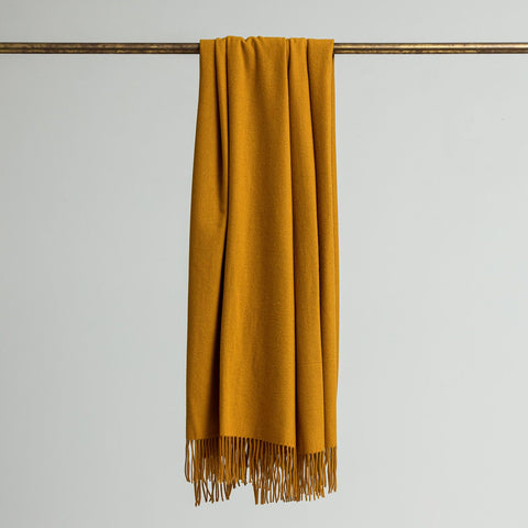 Loom Merino/Cashmere Throw - Ochre