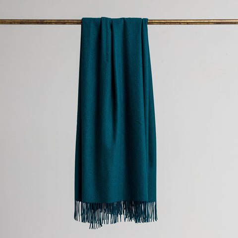 Loom - Merino/Cashmere Throw Teal
