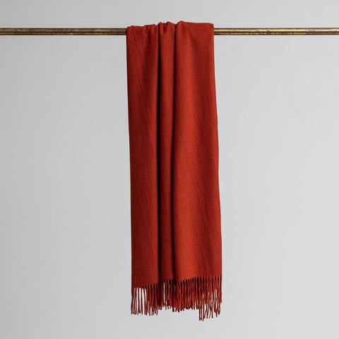Loom - Merino/Cashmere Throw - Sienna